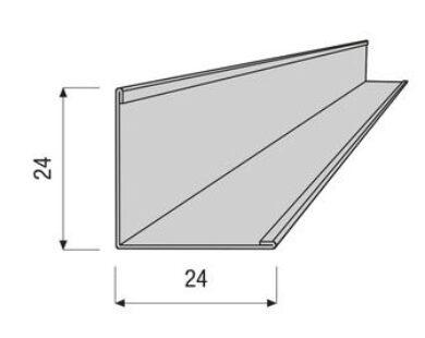 Profil AMF VENTATEC obvodový 24/24/3000 mm(700073)