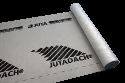 JUTADACH 135g černý/75m2-Vysoce difúzní podstřešní membrána sloužící k ochraně podkrovních prostor a tepelných izolací. Materiál je třívrstvý kontaktní určený na bedněné i nebedněné šikmé střešní konstrukce.