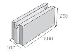 Ztracené bednění PRESBETON 25-10-Betonová tvárnice určeny pro všechny výstavby základových pásů různých druhů staveb bez použití klasického bednění.